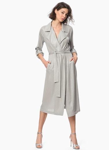NetWork Midi Ceket Elbise Gri